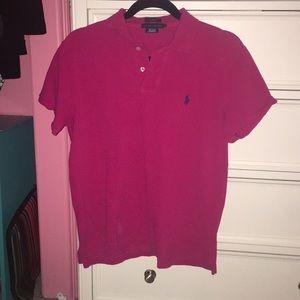 Dark pink colered shirt